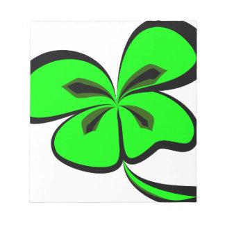 4 leaf clover notepad