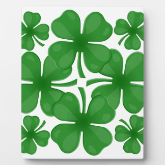 4 leaf clover plaque