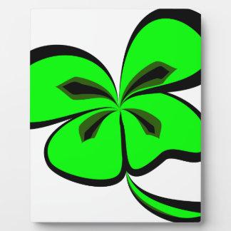 4 leaf clover plaque