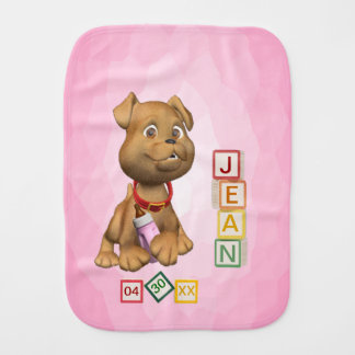 4 Letter Name Version Baby Burp Cloth Customize It