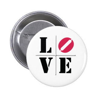 4 Letter Word Love 6 Cm Round Badge
