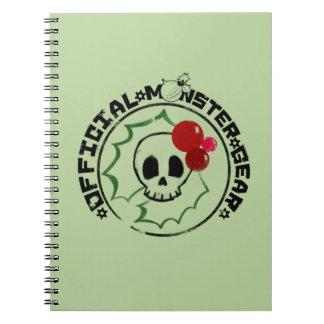 4 Little Monsters - Nessa Holiday Logo 2 Spiral Notebooks