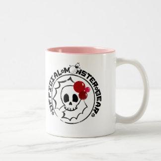 4 Little Monsters - Nessa Holiday Logo Two-Tone Mug