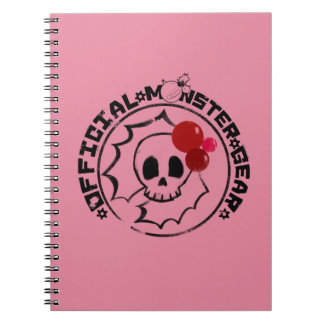 4 Little Monsters - Nessa Holiday Logo Spiral Note Book