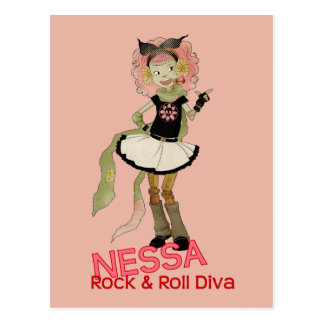 4 Little Monsters - Nessa Postcard