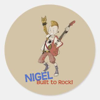 4 Little Monsters - Nigel Round Sticker