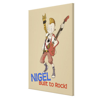 4 Little Monsters - Nigel Stretched Canvas Print