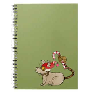 4 Little Monsters - Tesla Holiday Logo Spiral Notebook