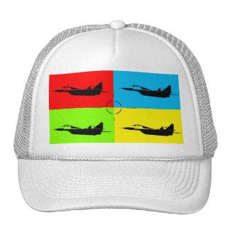 4 MiG 29 target Popart Mesh Hats