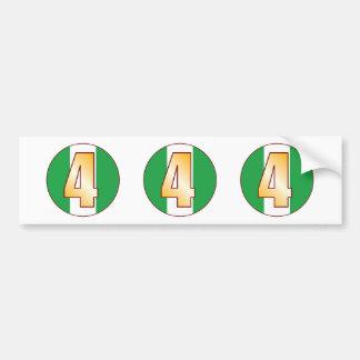 4 NIGERIA Gold Bumper Sticker