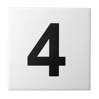 4 - number four ceramic tile