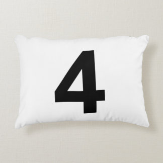 4 - number four decorative cushion