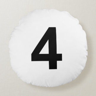 4 - number four round cushion