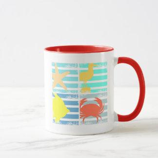 4 Ocean Design Squares Mug