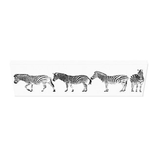4 of a kind Zebras Canvas Print