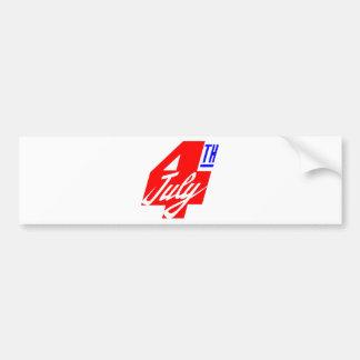 4 Of July Bumper Sticker