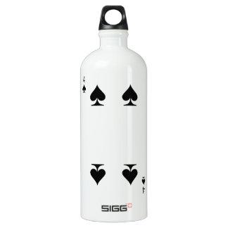 4 of Spades Water Bottle