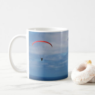 4 Paragliders over the Pacific Ocean in La Jolla Coffee Mug