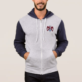 4 peace birds zippered hoodie