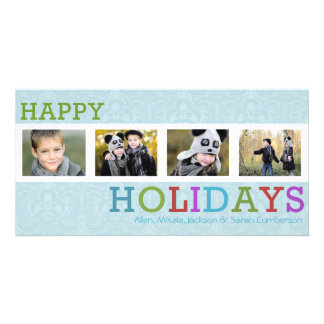 4 Photo Chic Frost Christmas Card