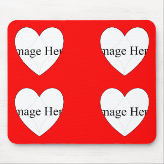 4 photo Heart Shapes Mousepad