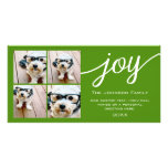 4 Photo Instagram Collage with Holiday Joy Green