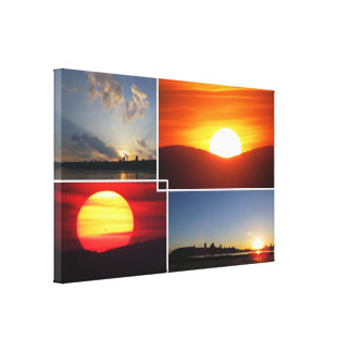 4-Photo Sunsets Canvas Print
