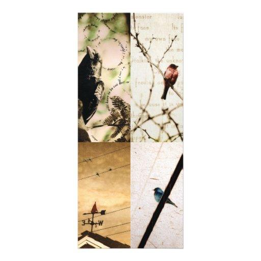 4 photogravure bookmarks custom rack card