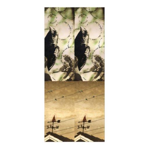 4 photogravure bookmarks custom rack cards