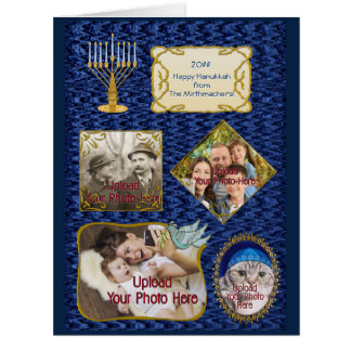 4 Photos For Hanukkah Personalized Card