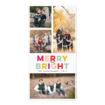 4 Photos Merry Bright and Colourful Photo Card