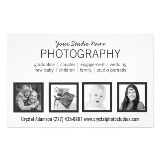 4 Photos Pro Photographer or Any Profession 14 Cm X 21.5 Cm Flyer