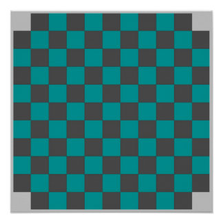 4 Player Checkers TAG Board (Fridge Magnet Game) Print