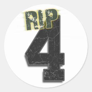 #4 RIP Brett Favre Funeral Sticker (decal)