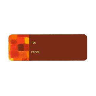4 Seasons Autumn pueblo Gift Tag Sticker Return Address Label