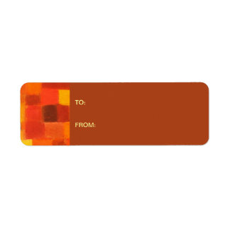 4 Seasons Autumn rust Gift Tag Sticker Return Address Label