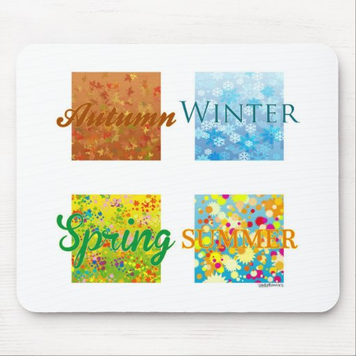 4 Seasons. Graphics and colors! Mousepads