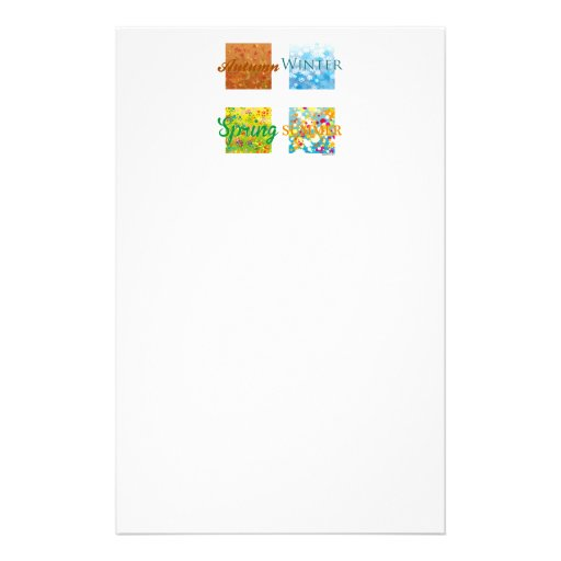4 Seasons. Graphics and colors! Customized Stationery