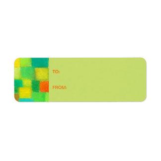 4 Seasons Spring goldenrod Gift Tag Sticker Return Address Label