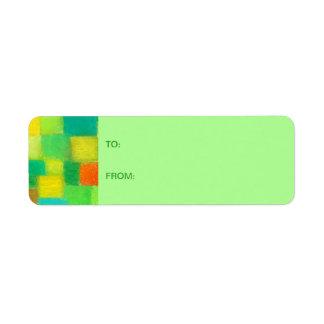 4 Seasons Spring mint Gift Tag Sticker Return Address Label