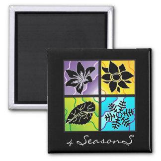 4 Seasons Square Magnet