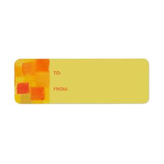 4 Seasons Summer confetti Gift Tag Sticker Return Address Label
