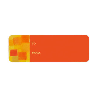 4 Seasons Summer tango Gift Tag Sticker Return Address Label