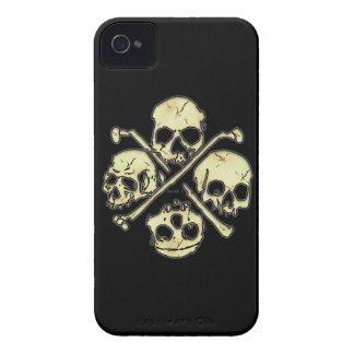 4 Skulls iphone 4 barely there iPhone 4 Cases