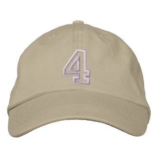"""4"" Small Athletic Number Embroidered Hat"