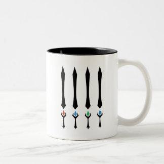 4 Stones Two-Tone Coffee Mug