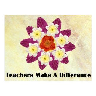 4 Teachers Make A Difference Postcard