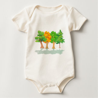 4 Trees Baby Bodysuit