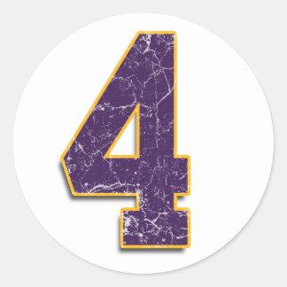 #4 Vikings Brett Favre sticker