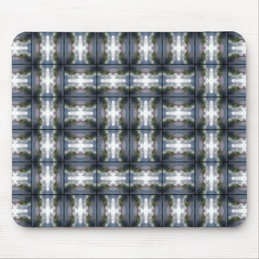 4 Waves Grid HDR Mouse Pad